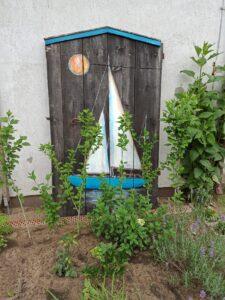 stare drzwi, zaglówka, akryl, ozdoba ogrodu